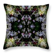 Worm Hole Mandala Throw Pillow