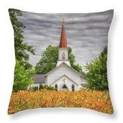 Worshiping Lilies 1 Throw Pillow