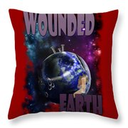 Wounded Earth Throw Pillow