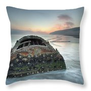 Wreck Of Laura - Filey Bay - North Yorkshire Throw Pillow