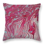 Wreckless Red Throw Pillow