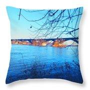 Wrightsville Bridge Throw Pillow