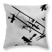 Wwi: Dogfight Throw Pillow