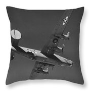 Wwii Us Aircraft In Flight Throw Pillow