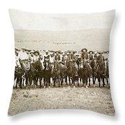 Wyoming: Cowboys, C1883 Throw Pillow
