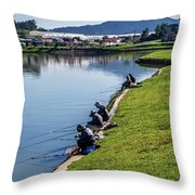 Xuan Huong Lake Throw Pillow