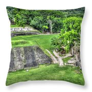 Xunantunich, Ancient Maya, Archaeological Site Throw Pillow
