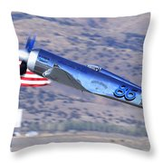 Yak Attack Sunday's Gold Unlimited Race Throw Pillow