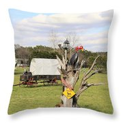 Yard Art 115 Throw Pillow