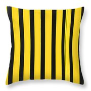 Yellow And Black Stripes Throw Pillow