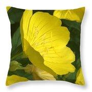 Yellow Evening Primrose Throw Pillow