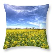 Yellow Fields Of Summer Throw Pillow