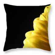 Yellow Gerbera Flower Throw Pillow