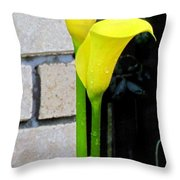 yellow Lily. Throw Pillow