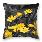 Yellow Lust Throw Pillow