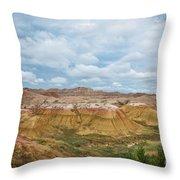 Yellow Mounds Of Badlands Np Throw Pillow