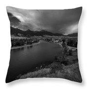 Yellowstone River Camp Throw Pillow
