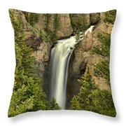Yellowstone Tower Falls 2018 Throw Pillow