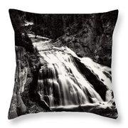Yellowstone's Gibbon Falls Throw Pillow