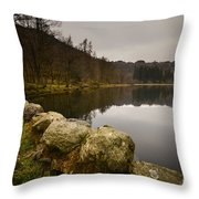 Yew Tree Tarn Throw Pillow