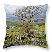 Yorkshire Dales Landscape Throw Pillow