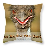 You Make Me Smile Throw Pillow