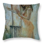Young Girl 57905062 Throw Pillow