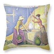 Young Women Of Provence At The Well, 1892 Throw Pillow