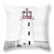 You're My Beacon Peggy's Cove Lighthouse Throw Pillow