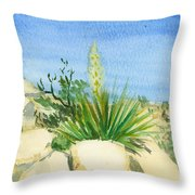 Yucca Tree Throw Pillow