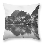 Yulong River Scenery Throw Pillow