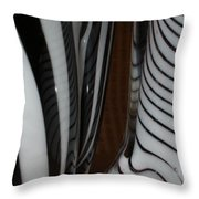 Zebra Glass Throw Pillow