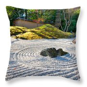 Zen Garden At A Sunny Morning Throw Pillow