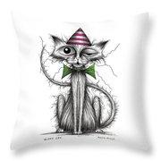Zippy Cat Throw Pillow