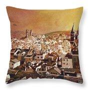 Zurich Skyline Throw Pillow