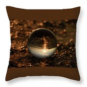 10-17-16--8585 The Moon, Don't Drop The Crystal Ball, Crystal Ball Photography Throw Pillow