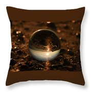 10-17-16--8590 The Moon, Don't Drop The Crystal Ball, Crystal Ball Photography Throw Pillow