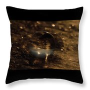 10-17-16--8634 The Moon, Don't Drop The Crystal Ball, Crystal Ball Photography Throw Pillow
