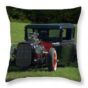 1930 Ford Coupe Hot Rod Throw Pillow