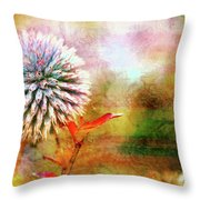 American Beach Cottage Art And Feelings Throw Pillow