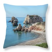 Aphrodite's Rock - Cyprus Throw Pillow