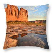 Arches National Park Throw Pillow by Ray Mathis