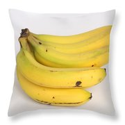 Banana Ripening Sequence Throw Pillow