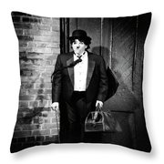 Charlie Chaplin Throw Pillow by Oleksiy Maksymenko