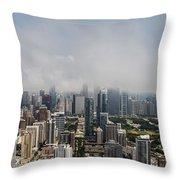 Chicago Skyline Aerial Photo Throw Pillow