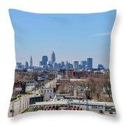 Cleveland Skyline Throw Pillow