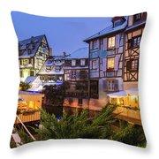 Colmar,petite Venice, Alsace, France, Throw Pillow