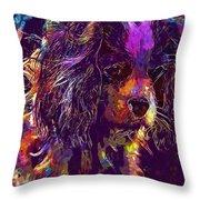 Dog Cavalier King Charles Spaniel  Throw Pillow