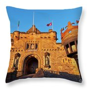 Edinburgh Castle, Scotland Throw Pillow