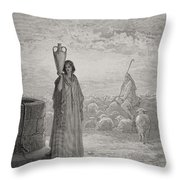 Engraving From The Dore Bible Throw Pillow